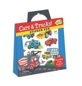 Peaceable Kingdom Cars & Trucks Reusable Sticker Tote