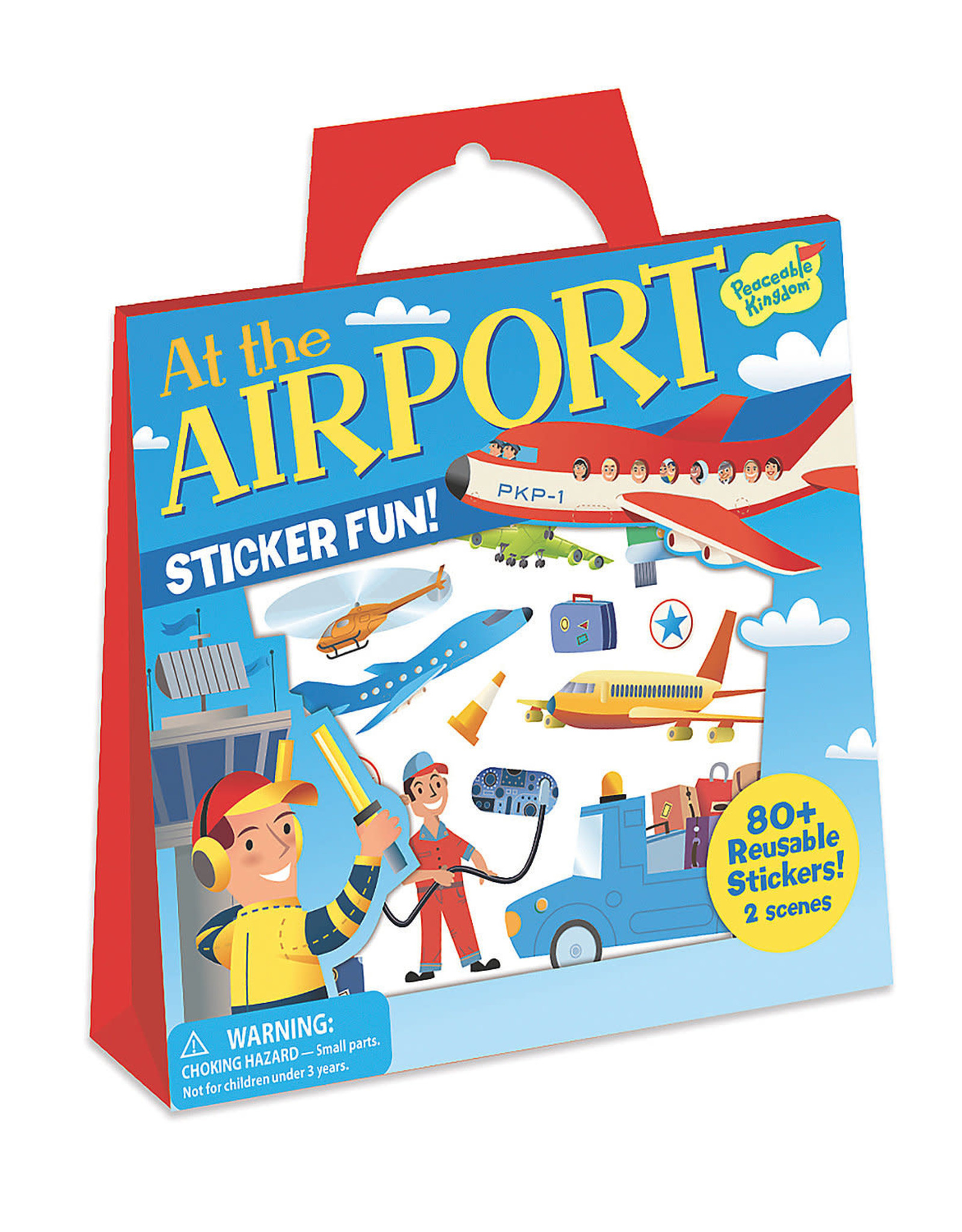 Peaceable Kingdom At The Airport Reusable Sticker Tote