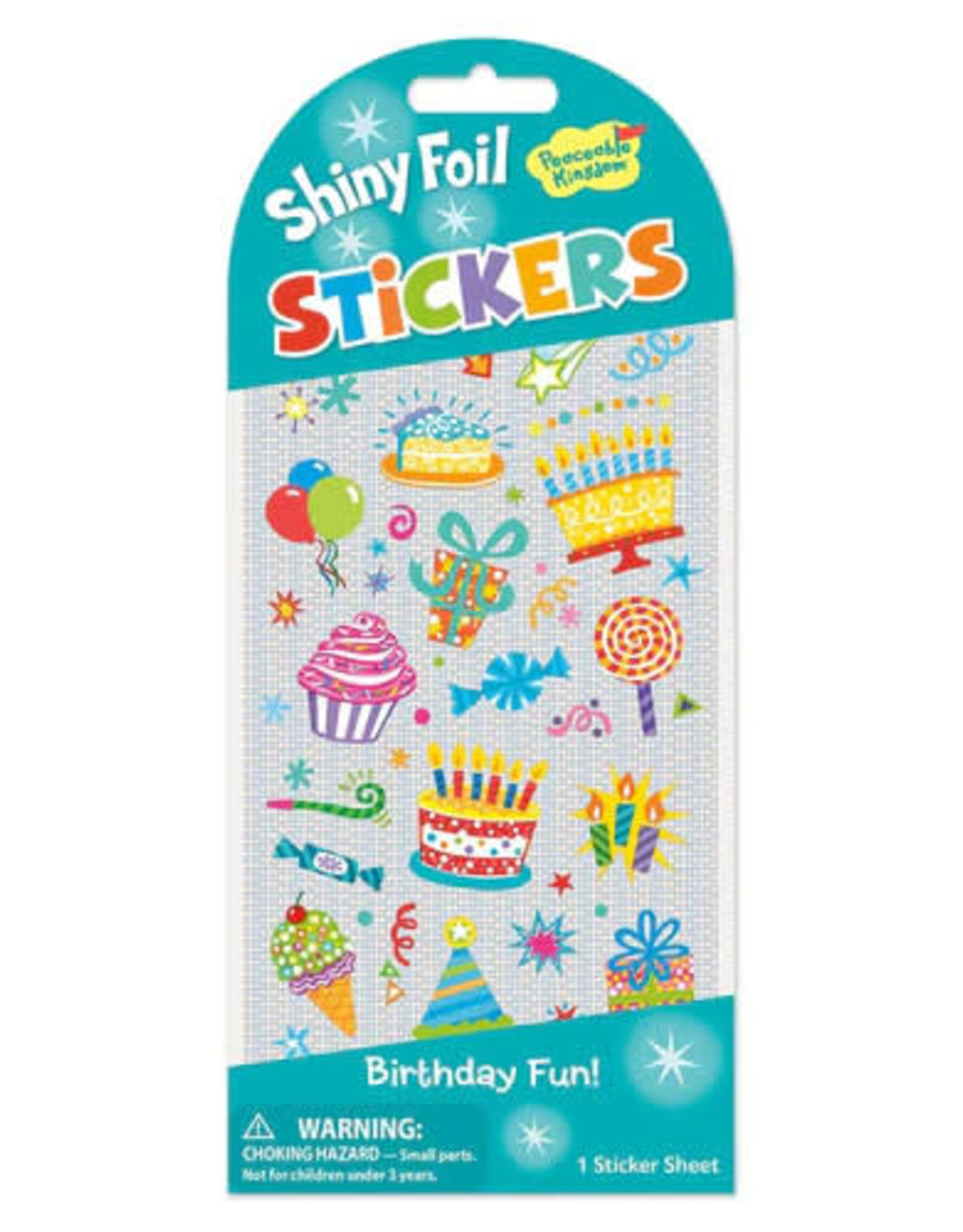 Peaceable Kingdom Birthday Icons Foil Stickers
