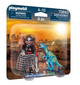 Playmobil Duo Pack Velociraptor with Dino Catcher