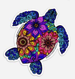 Crystal Salamon Coloured Sticker - Turtle