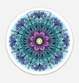 Crystal Salamon Coloured Sticker - Breathing Mandala