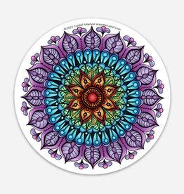 Crystal Salamon Coloured Sticker - Rainbow Mandala