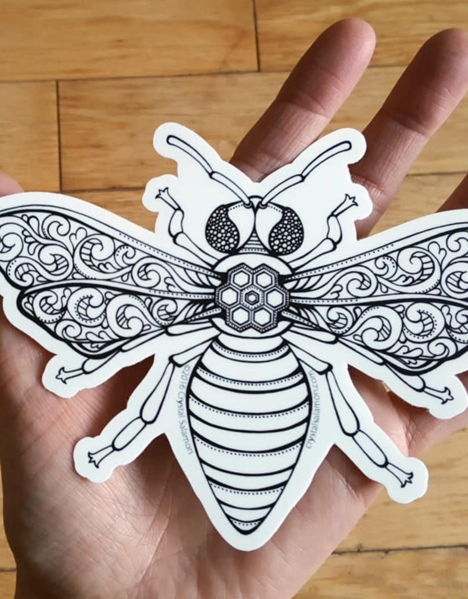 Crystal Salamon Colouring Sticker - Bee