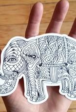 Crystal Salamon Colouring Sticker - Elephant