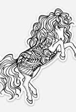 Crystal Salamon Colouring Sticker - Horse