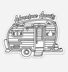 Crystal Salamon Colouring Sticker - Camper Adventure Awaits