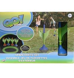 Go! Zone Glow In The Dark Lawn Darts Set