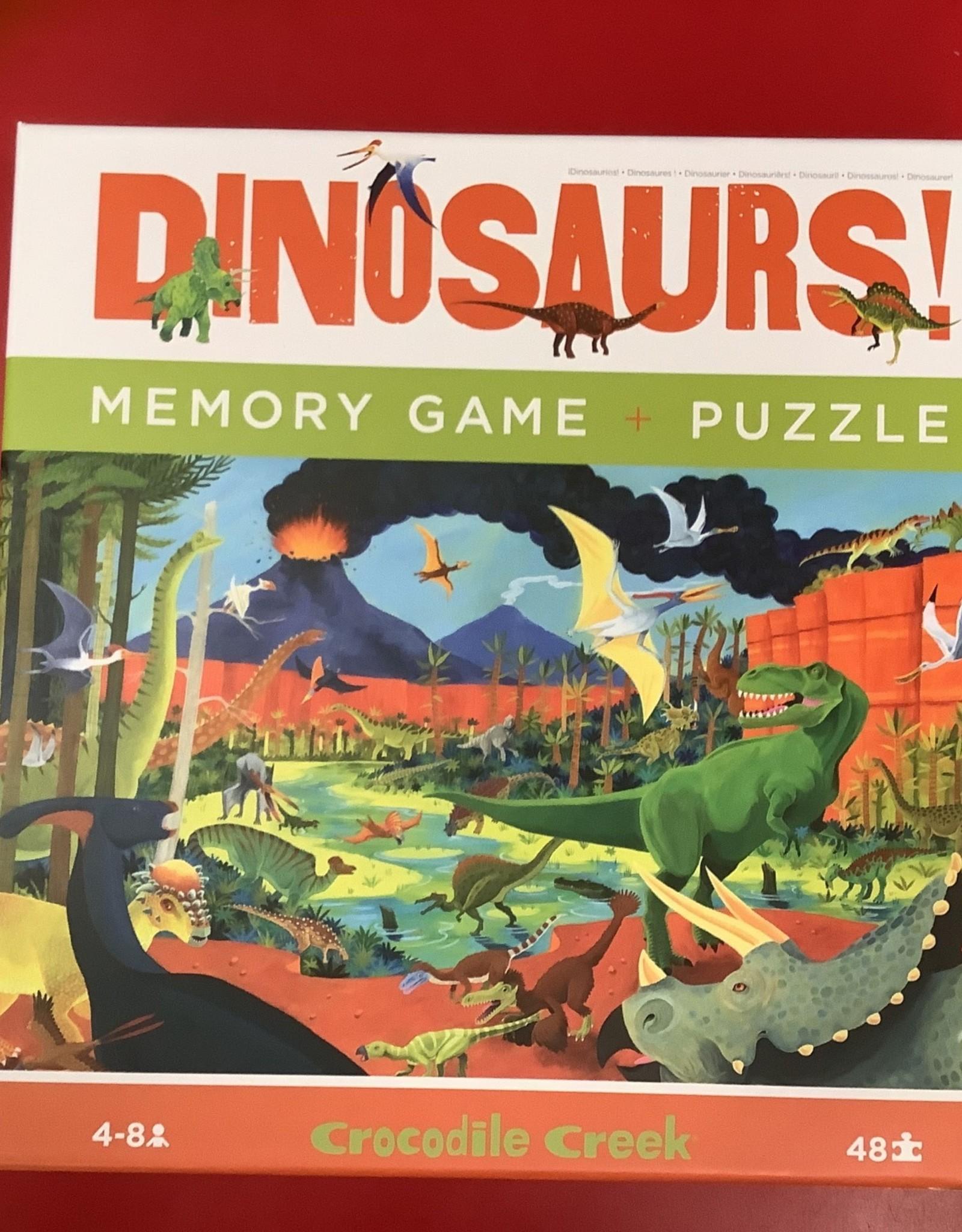 Crocodile Creek LTP MEMORY GAME & PUZZLE/DINOSAURS