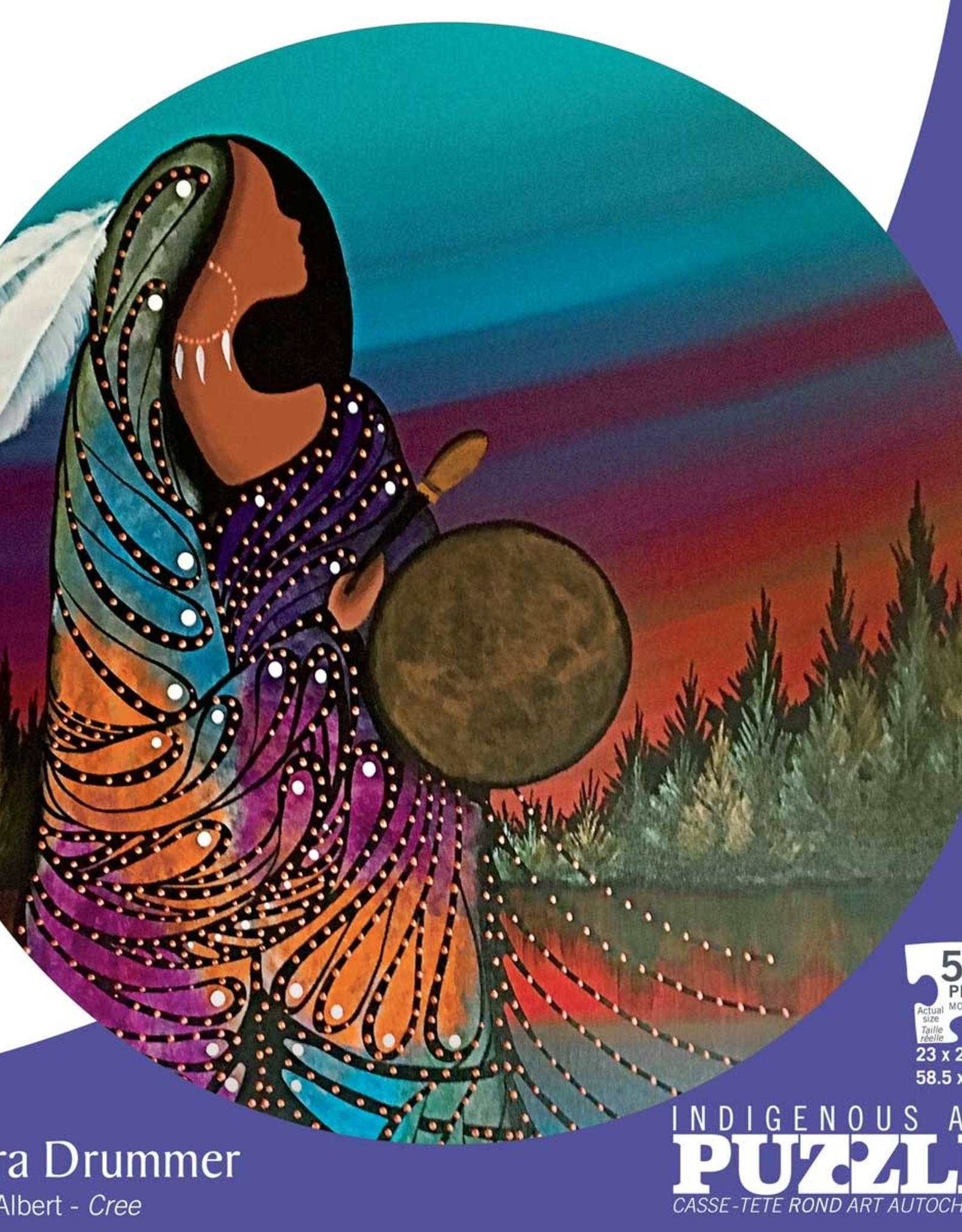 Indigenous Collection by CAP Aurora Drummer, 500pc Round