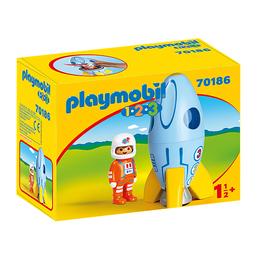 Playmobil 1,2,3 - Astronaut with Rocket