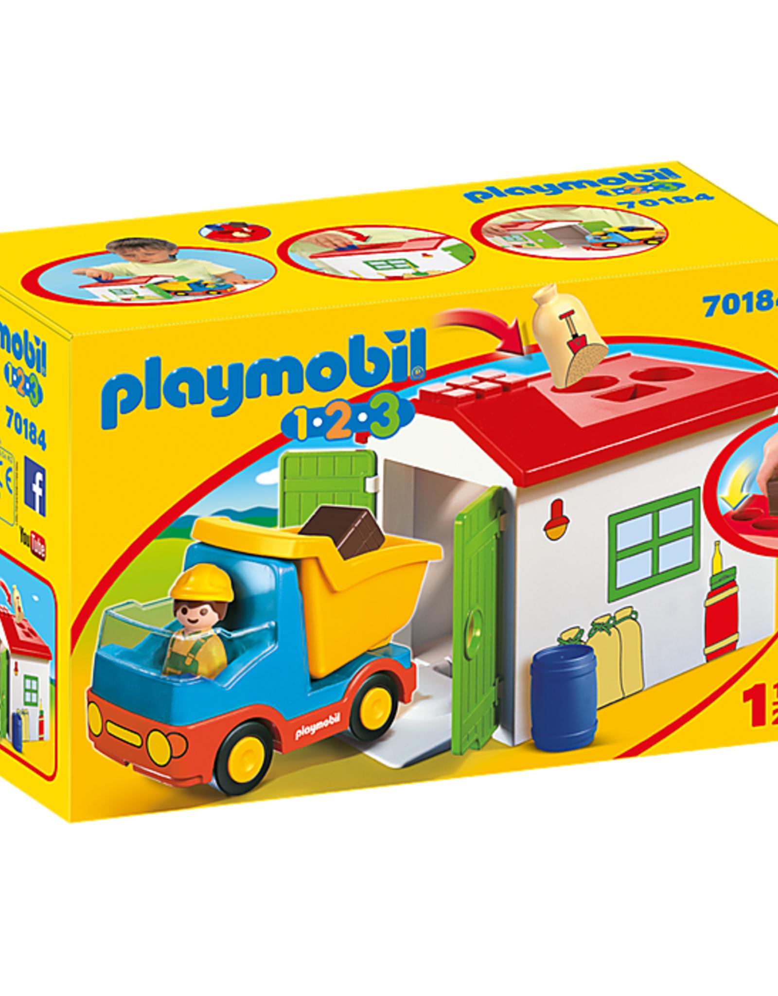 Playmobil 1,2,3 - Dump Truck with Sorting Garage