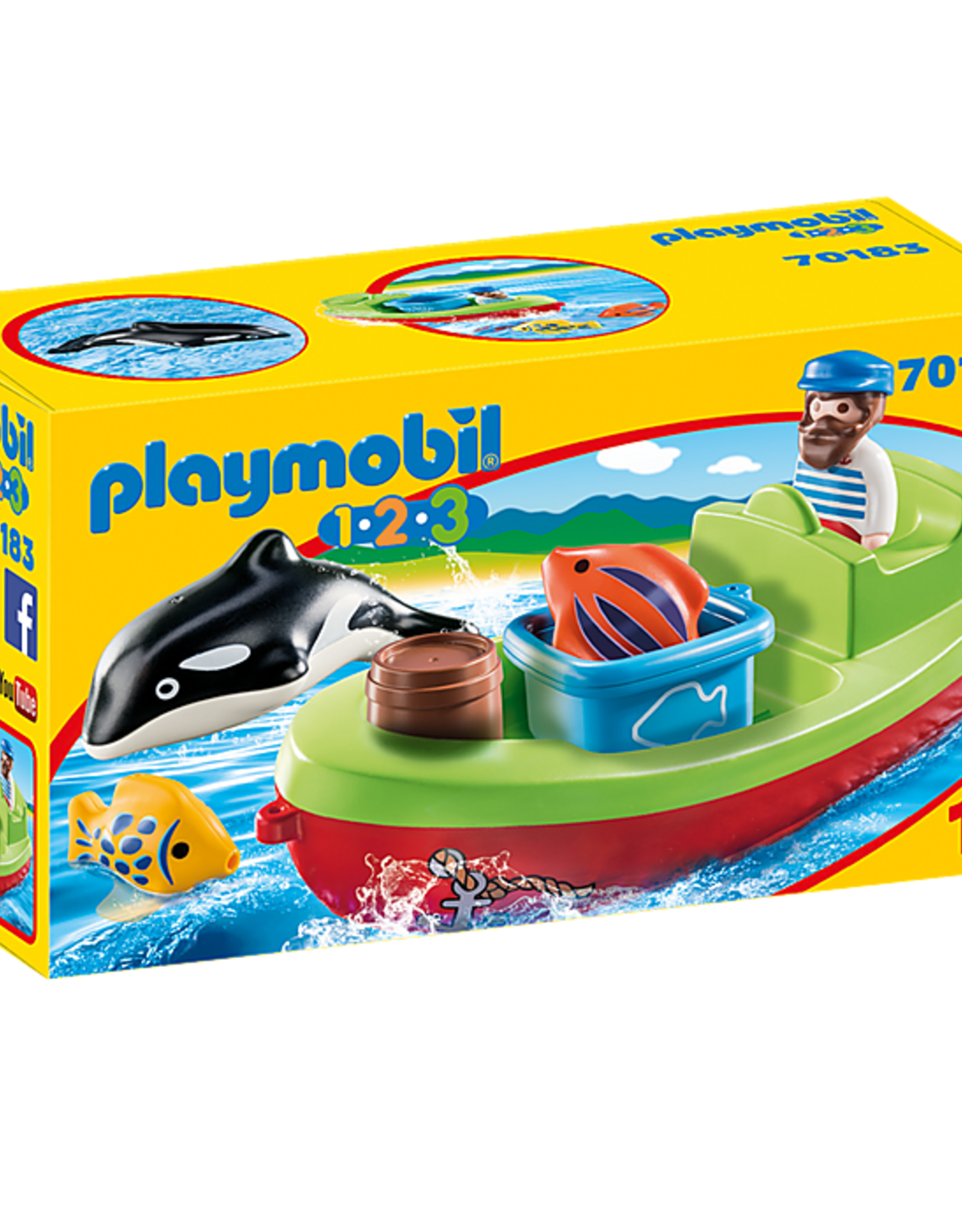 Playmobil 1,2,3 - Fisherman with Boat