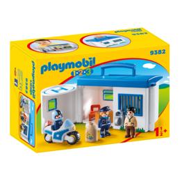 Playmobil 1.2.3 Take Along Police Station*