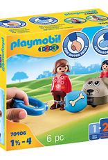 Playmobil 1.2.3. Dog Train Car