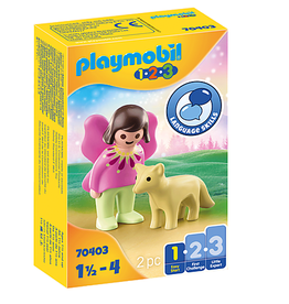 Playmobil 1.2.3. Fairy Friend with Fox