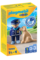 Playmobil 1.2.3. Police Officer with Dog