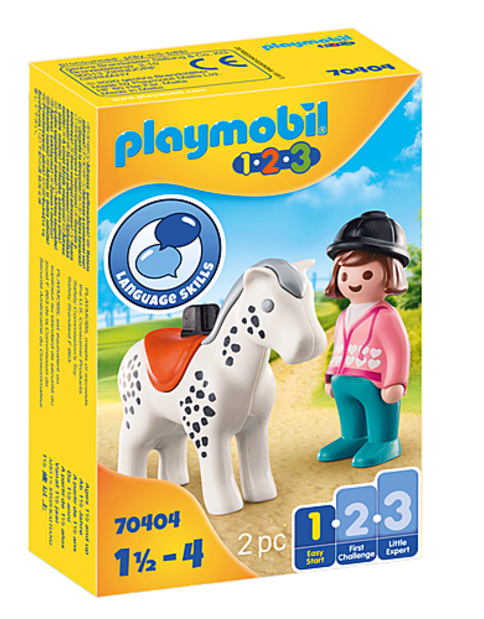 Playmobil 1.2.3. Rider with Horse