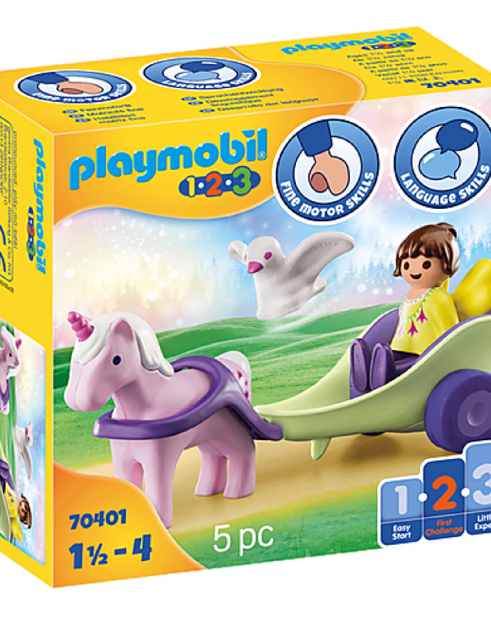 Playmobil 1.2.3. Unicorn Carriage with Fairy