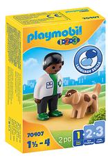 Playmobil 1.2.3. Vet with Dog