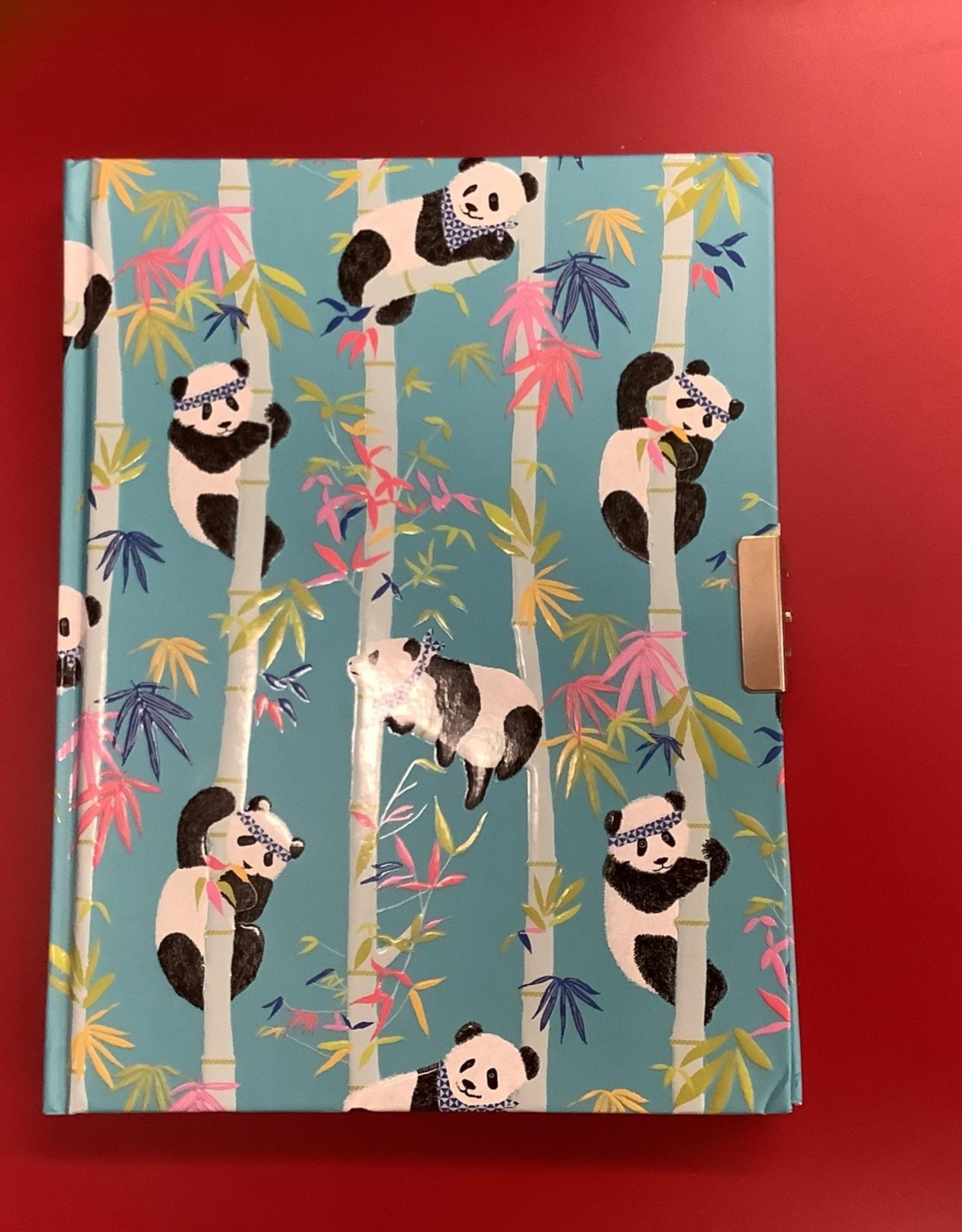 Peter Pauper Press LTP Locking Journal: Pandas