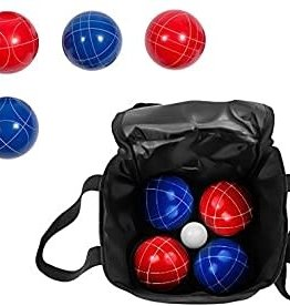 Yard Candy Deluxe Resin Bocce Ball Set with Carry Case