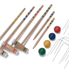 Pool Candy Deluxe Wooden Croquet Set (4 Player)