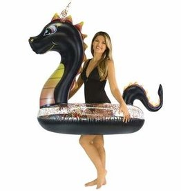 "Pool Candy Glitter Dragon - 48"" Jumbo Black Glitter Tube"