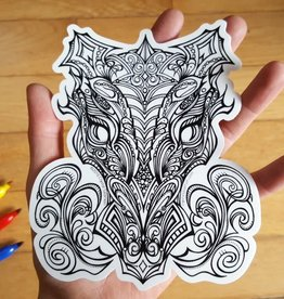 Crystal Salamon Colouring Sticker - Dragon King