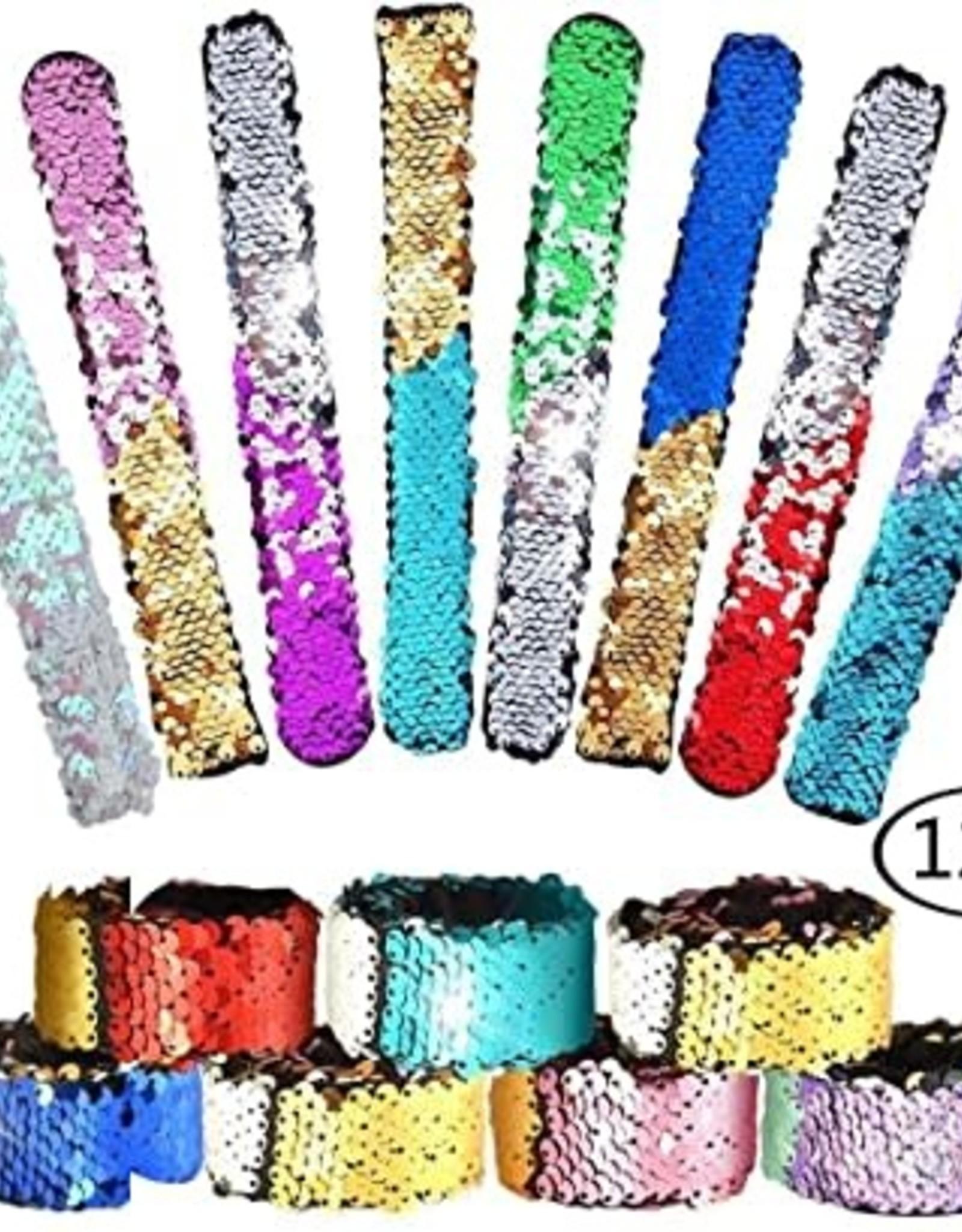 Brush Sequin Slap Bracelet Asst.