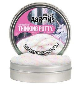 "Crazy Aaron's Thinking Putty Crazy Aaron's Glowbrights-Enchanting Unicorn 4"" Tin"