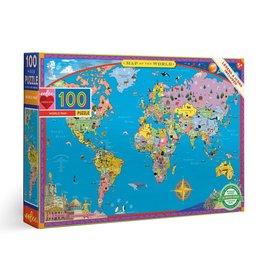 eeBoo WORLD MAP 100PC PUZZLE
