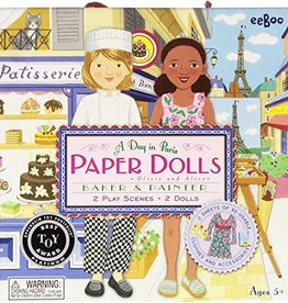 eeBoo Paper Doll: A Day In Paris