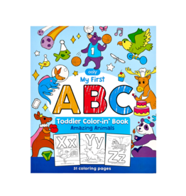 OOLY ABC: AMAZING ANIMALS TODDLER COLOR-IN' BOOK