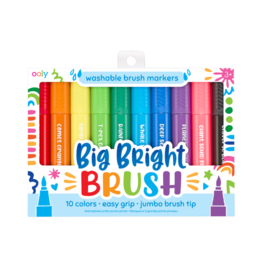 OOLY BIG BRIGHT BRUSH MARKERS - SET OF 10