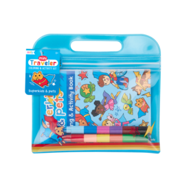 OOLY MINI TRAVELER COLORING & ACTIVITY KIT - SUPERKIDS & PETS