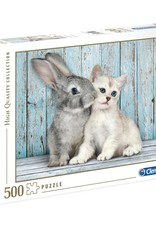 Clementoni 500PC HQC -CAT & BUNNY