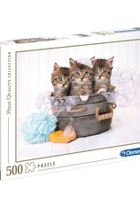 Clementoni 500PC HQC -KITTENS AND SOAP