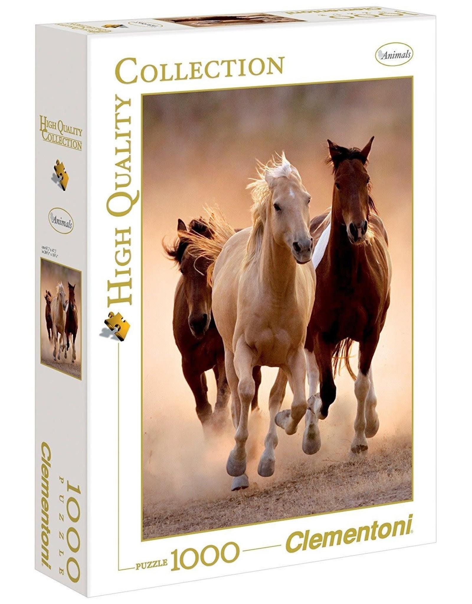 Clementoni 1000PC HQC - RUNNING HORSES
