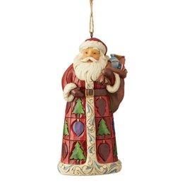 Jim Shore H/O Santa With Toy Bag
