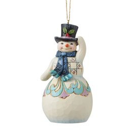 Jim Shore H/O Snowman With Top Hat