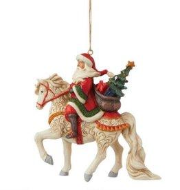 Jim Shore H/O Santa Riding White Horse