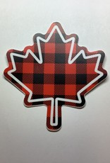 Stickers NW Buffalo Check Maple Leaf Sticker
