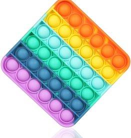 Push 'n' Pop Push Bubble Fidgets Rainbow (Square)