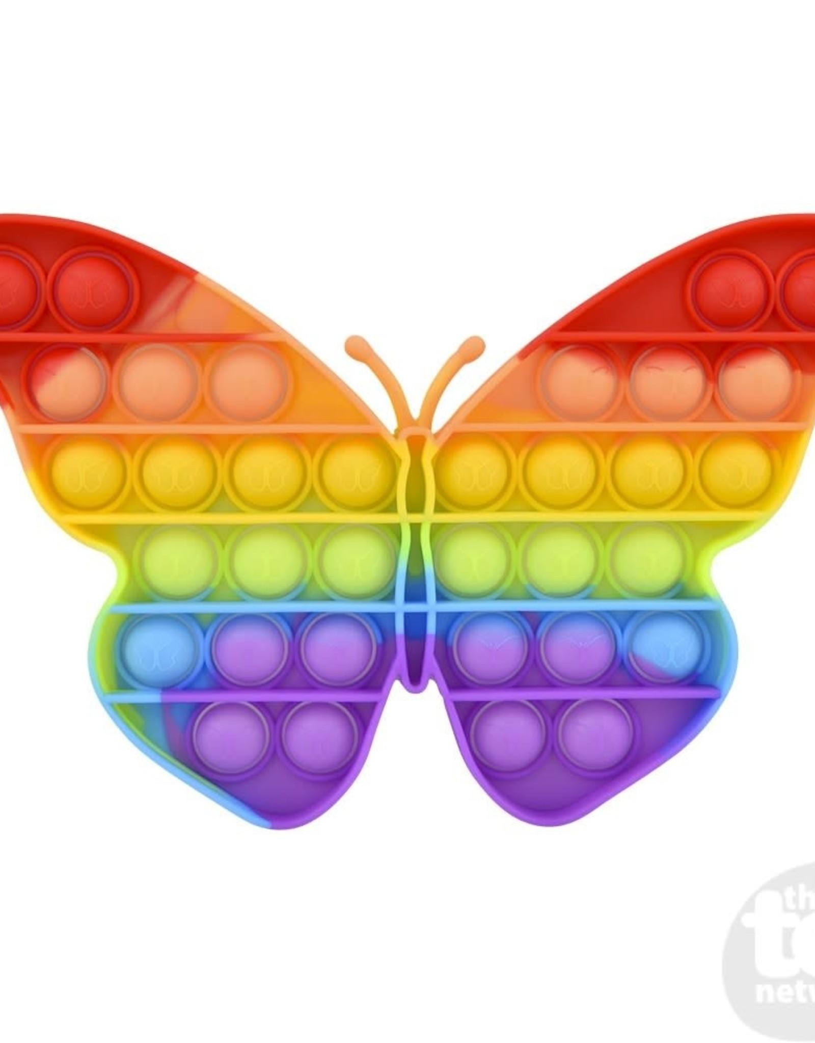 "Bubble Poppers 9"" Rainbow Butterfly"