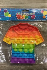 """Bubble Poppers 6.5"""" Rainbow T-Shirt"""