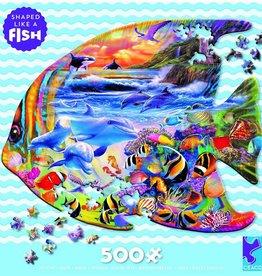 Ceaco 500PC PUZZLE SHAPES -FISH
