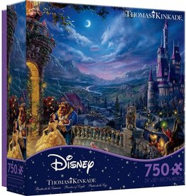 Ceaco 300PC THOMAS KINKADE  FINE ART-BEAUTY AND THE BEAST DANCING IN THE MOONLIGHT