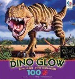 Ceaco 100PC DINO GLOW IN DARK-PURPLE BOX