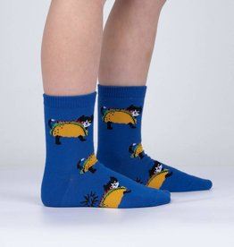 Sock It To Me Junior Crew: Let's Taco 'bout Cats